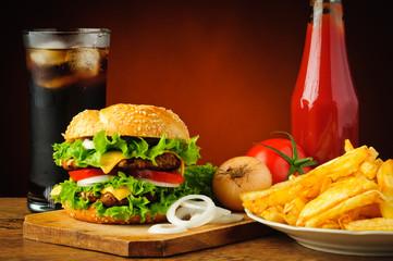 Fototapeta Fast food menu obraz