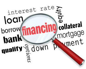 Financing Magnifying Glass Words Load Mortgage