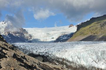 Iceland - Skaftafellsjökull  National park - Svinafell glacier