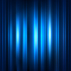 Blue curtain with spot light