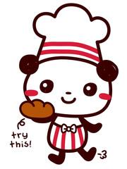 Cute Doodle Panda Chef