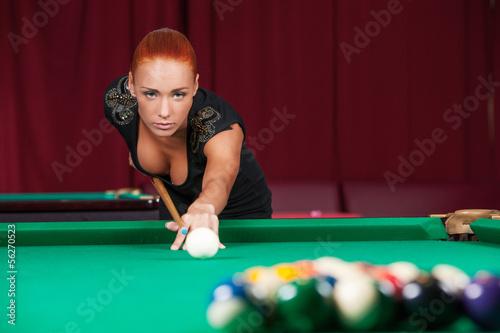 Redhead smoking shooting pool pics