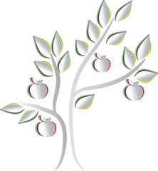 Apple tree. Creative paper design.