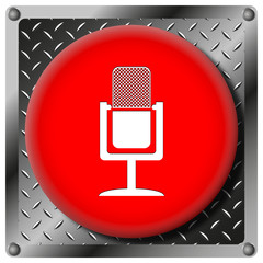 Microphone metallic icon