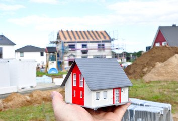 Wall Mural - Hausbau Baustelle