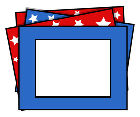photo frame - US 4th of July - Independence Day Vector Design