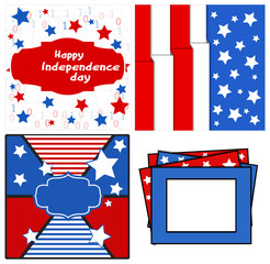 design and backgrounds set - Patriotic USA theme Vector