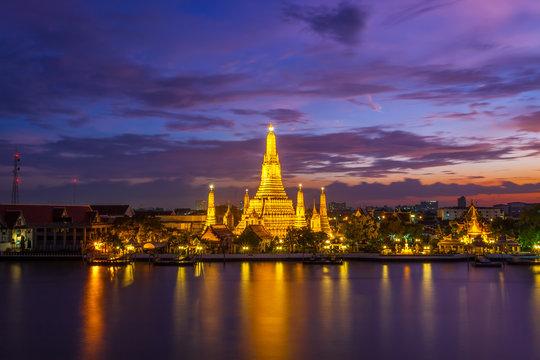 The beautiful landscape at Wat Pho , Bangkok,Thailand