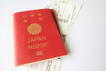 パスポートとボーディングパス