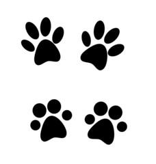Black paw prints.