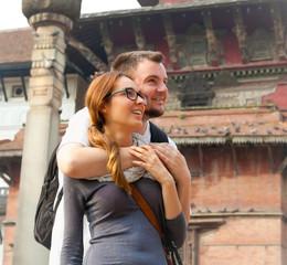 Beautiful couple in Kathmandu, Nepal.