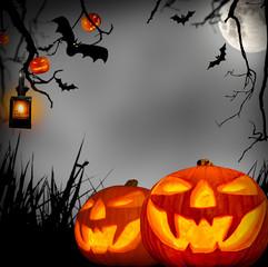 Papiers peints Pleine lune halloween concept
