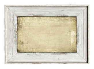 Wood painted frame isolated on white