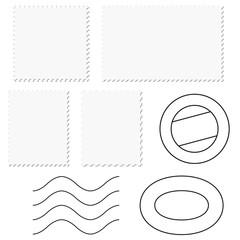 Briefmarke + Poststempel