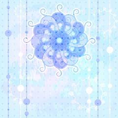 Merry Christmas greeting card, snowflake,