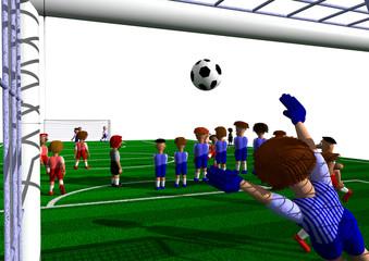 Fußball Freistoßmauer