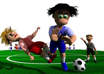 Fußball Foul