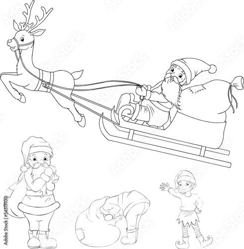 weihnachten set santa claus weihnachtsmann stockfotos. Black Bedroom Furniture Sets. Home Design Ideas