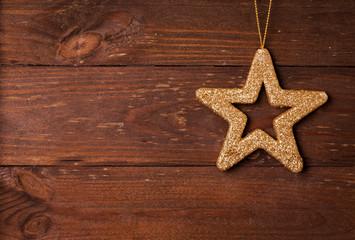 Stern auf Holz
