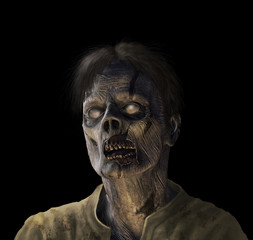 Zombie Portrait on black
