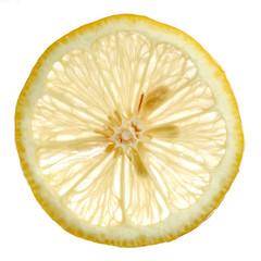 Zitronenscheibe im Gegenlicht