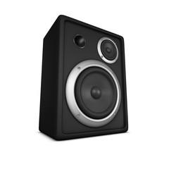 Lautsprecher Box auf seissem Hintergrund
