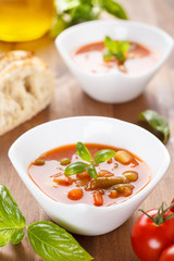 Minestrone - italian soup with veggies