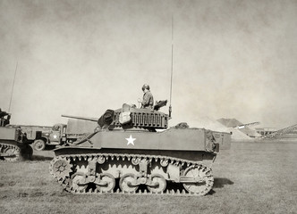 Wall Mural - Old American tank