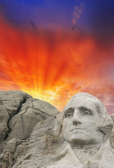 Fototapete - Mount Rushmore - George Washington sculpture