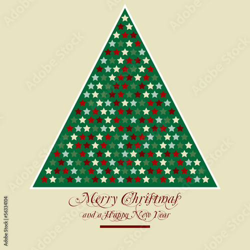 stilisierter weihnachtsbaum merry christmas stockfotos. Black Bedroom Furniture Sets. Home Design Ideas