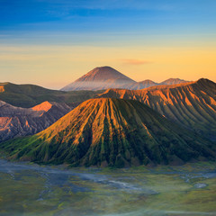 Foto op Canvas Indonesië Bromo Volcano Mountain in Tengger Semeru National Park at sunris