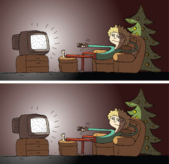 Watching TV Differences Visual Game