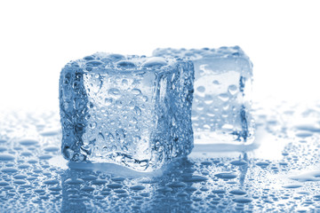 Pair of melted ice cubes