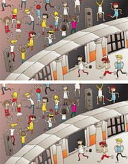Party Entrance Differences Visual Game