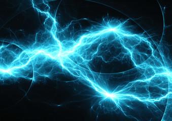 Blue fractal lightning