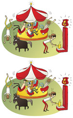 Circus Differences Visual Game