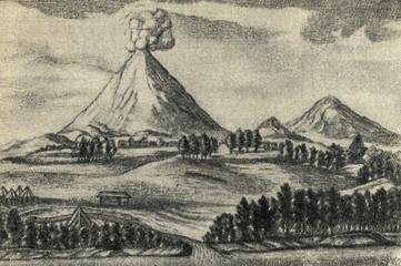 Volcanoes on Kamtchatka (History of Kamtschatka, 1755)