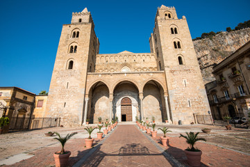 The Norman cathedral in Cefalù, Sicily, Italy