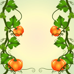 frame of pumpkins