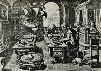 Medieval cartographer