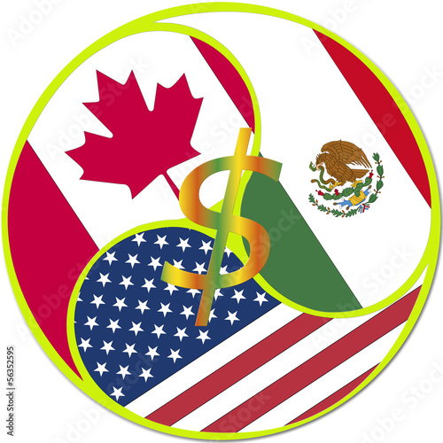 Nafta North American Free Trade Agreement Stock Photo And Royalty