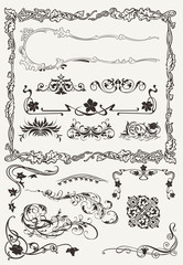 Collection of Ornamental Borders And Elements in Ancient Design
