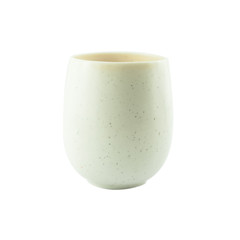 White Chinese tea cup isolated on a white background