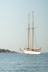 sailing ship and island
