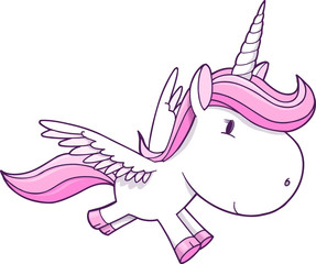 Unicorn Pegasus Vector Illustration Art