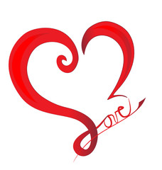 Abstract love heart logo vector