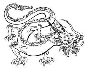 Stylised dragon illustration