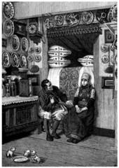 Traditional Peasants - Interior - 19th century
