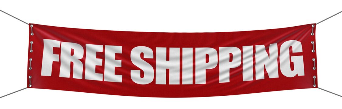 """""""free shipping"""" banner  (clipping path included)"""