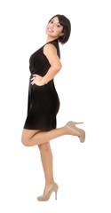 hispanic woman body balance